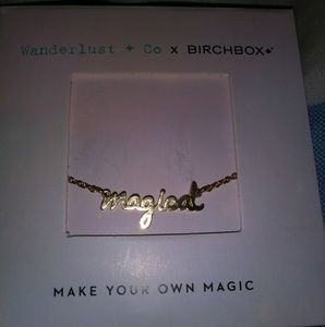 "NWT ""Magical"" Wanderlust &Co. Fr Birchbox Necklace"